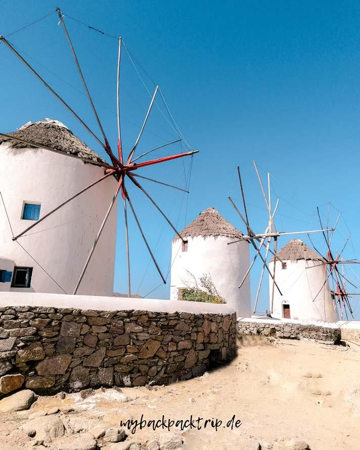 Windmills Mykonos Griechenland Reisetipps