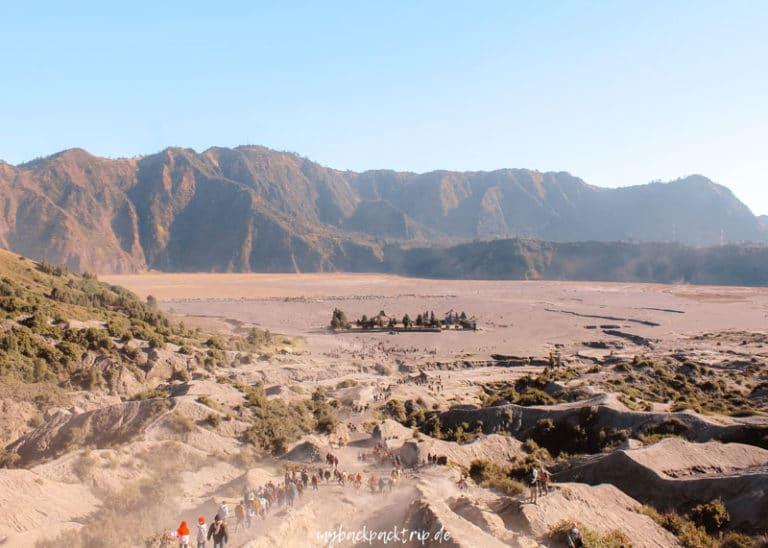 Aussicht vom Krater des Mount Bromo