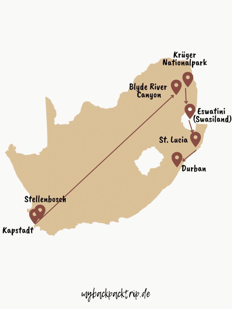 Rundreise Route Südafrika: Reisetipps & Highlights