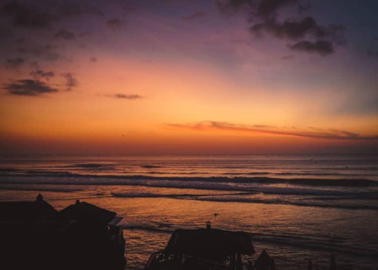 Der Sonnenuntergang am Uluwatu Beach