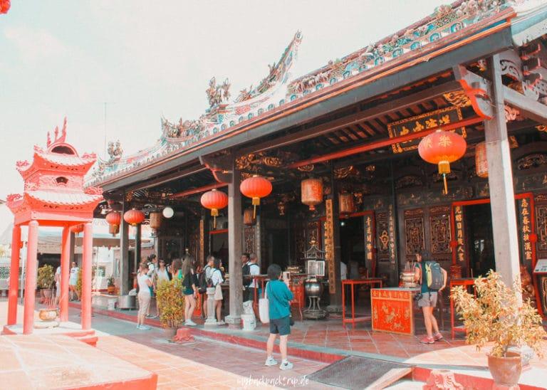 Eingangsbereich eines chinesischen Tempel in der Stadt Melaka