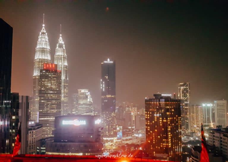 Blick von der Helipad Bar in Kuala Lumpur