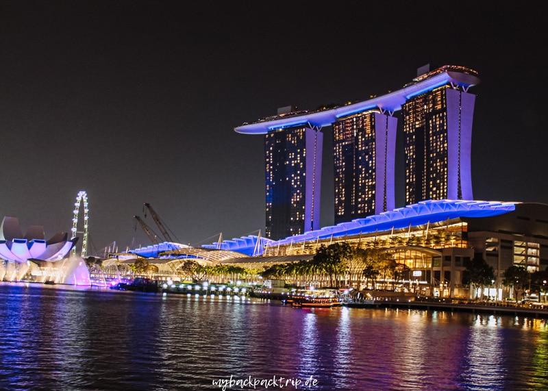 Marina Bay Sands Singapur Reisetipps Sehenswuerdigkeiten