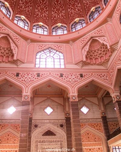 Kuppel der Pink Mosque in Putrayaja