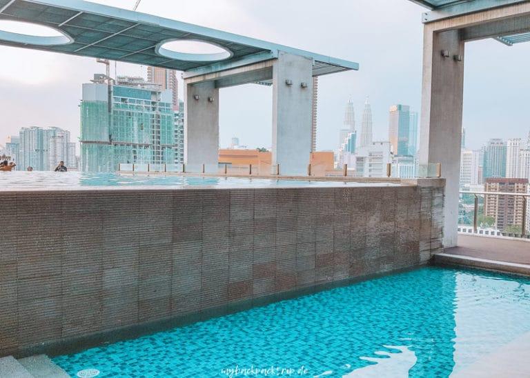 Dachterrasse mit Pool in Kuala Lumpur