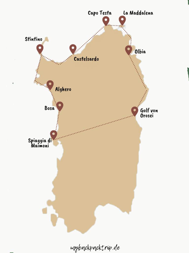 Rundreise Sardinien