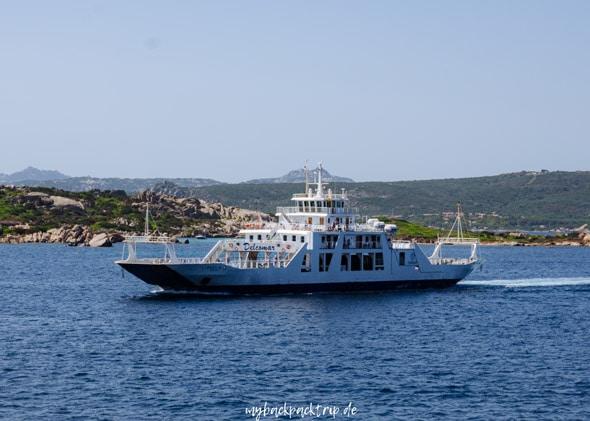 Faehre La Maddalena Sardinien Urlaub