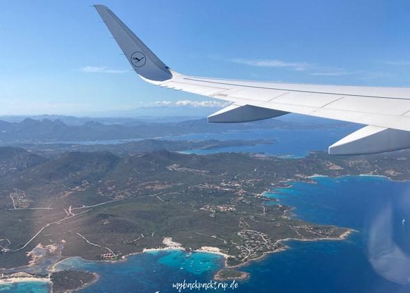 Flugzeug Sardinien