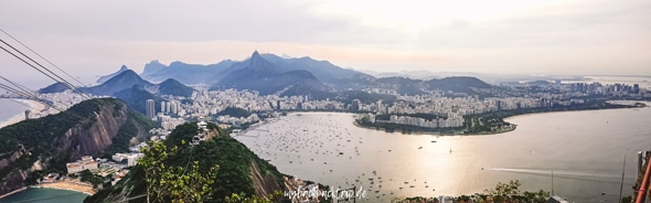 Panorama auf Rio de Janeiro vom Zuckerhut