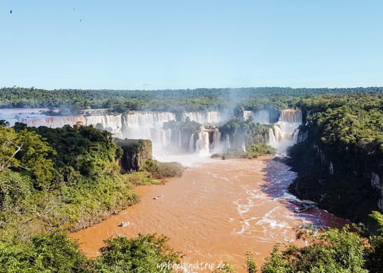 Panorama Iguazu Wasserfaelle Reisetipps