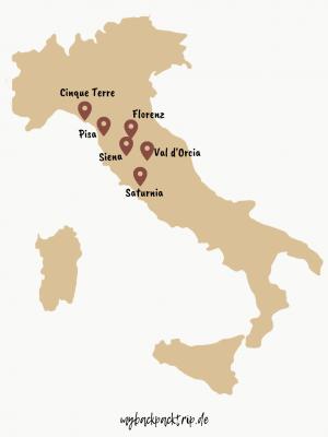 Rundreise Route Toskana und Cinque Terre: Reisetipps und Highlights