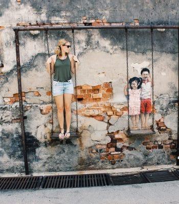 Street Art George Town Penang   Malaysia Rundreise: Reisebericht, Reisetipps, Routen, Highlights, Reiseblog